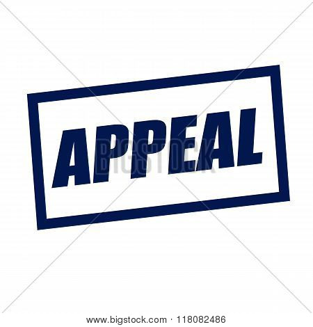 Appeal Blueblack Stamp Text On White