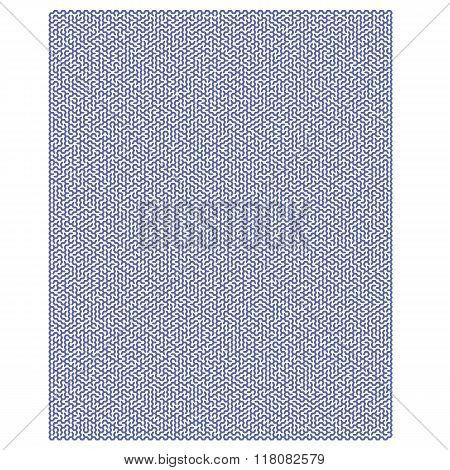Blue Hexagonal Labyrinph
