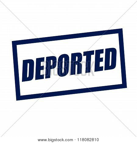 Deported Blueblack Stamp Text On White