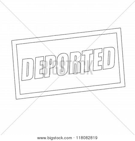 Deported Monochrome Stamp Text On White