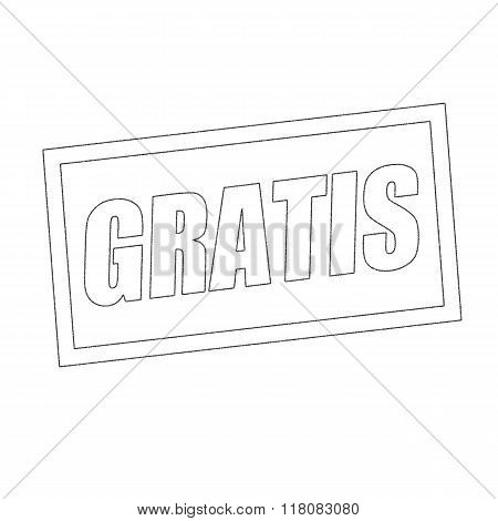 Gratis Monochrome Stamp Text On White