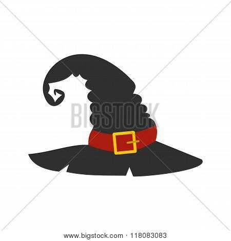 Witch black hat flat