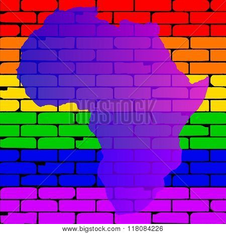 Transexual Rainbow Wall With Africa Map