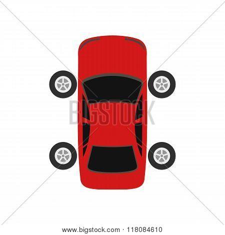 Repair car wheel flat icon