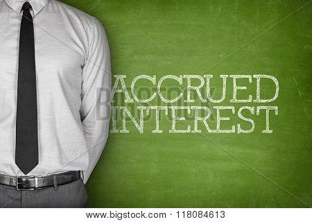 Accrued interest text on blackboard