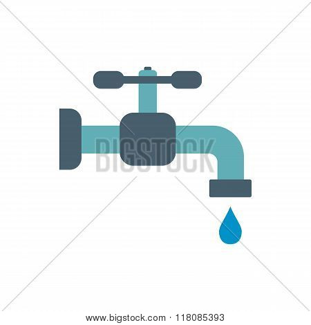 Faucet flat icon