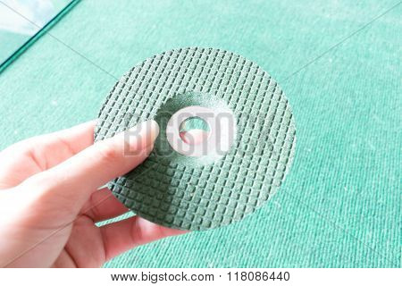 abrasive cut disc and grinder