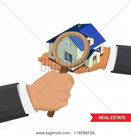 Real estate concept  illustration.