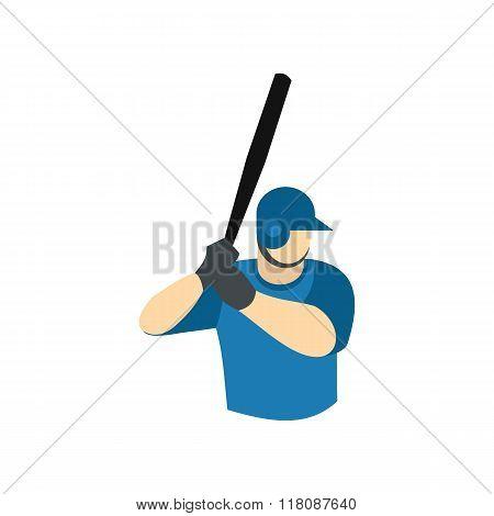 Baseball player flat icon