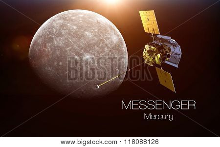 Mercury - Messenger spacecraft. This image elements furnished by NASA.
