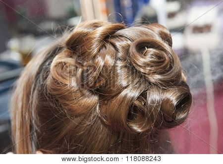 Closeup Of Womens Hair Styling