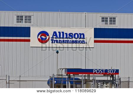 Indianapolis - Circa February 2016: Allison Transmission World Headquarters I