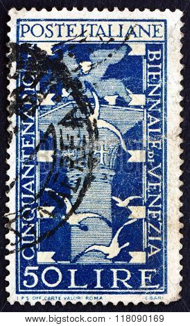 Postage Stamp Italy 1949 Lion Tower And Gulls