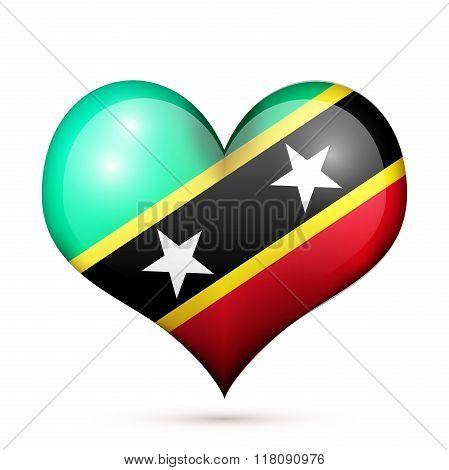 Saint Kitts and Nevis Heart flag icon
