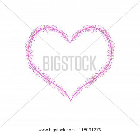 Pink Flower Buds In A Heart Shape