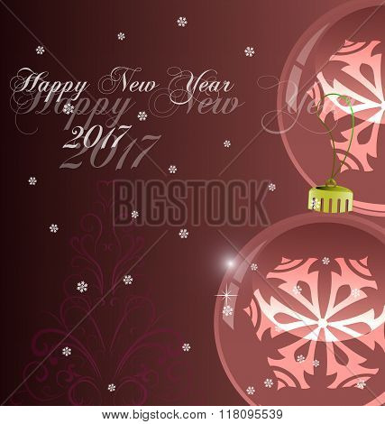 Happy New Year background 2017