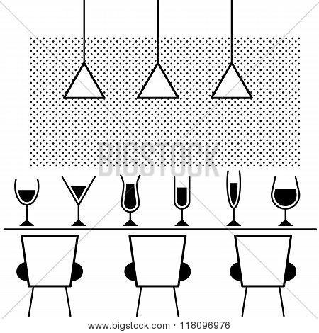Glam bar illustration