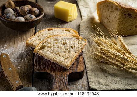 Healthy rustic food table. Still life food, rustic style