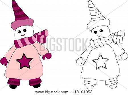 A snow man is coloration