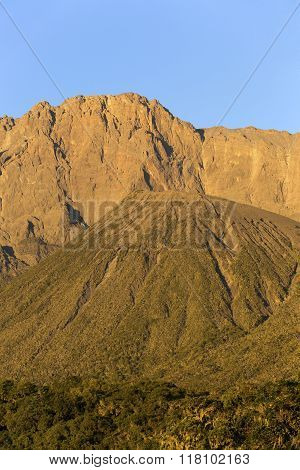 Mount Meru at sunrise
