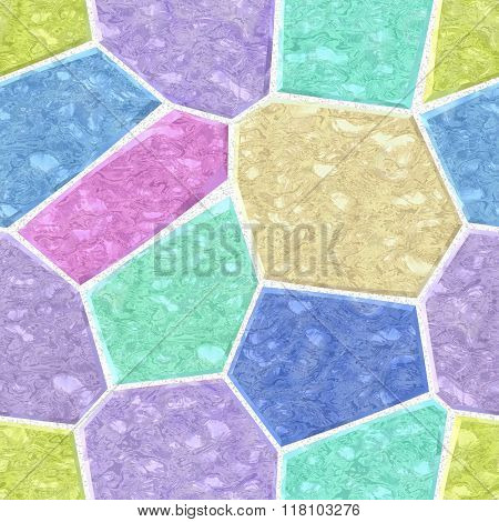 Pastel Colors Marble Irregular Plastic Stony Mosaic Seamless Pattern Texture Background