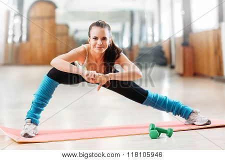 woman on fitness workout