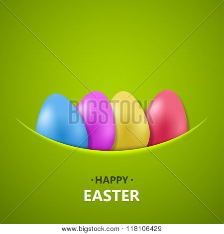 Vector modern happy easter background.