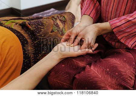 Thai Massage Hands.
