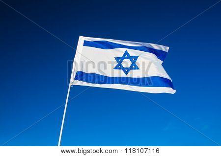 Israeli Flag Closeup