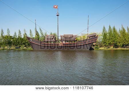 Boat In Mueang Boran