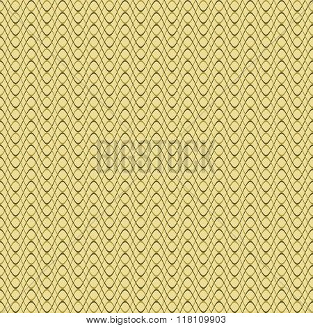Abstract Seamless Wavy Pattern In Olive Colors