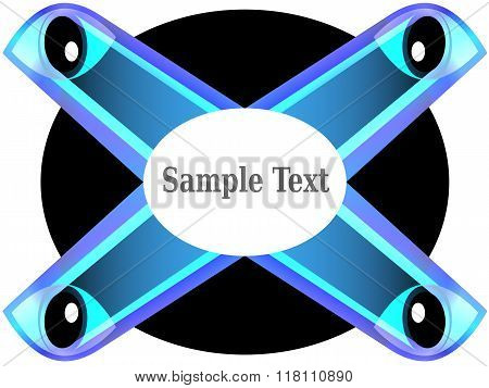 Blue Glowing Eyes In Abstract Concepts