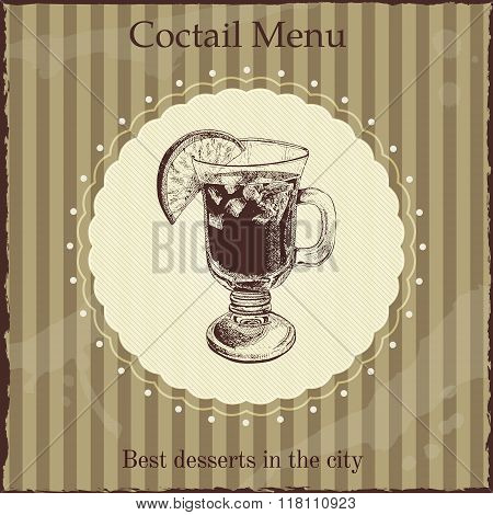 Coctail menu cover template