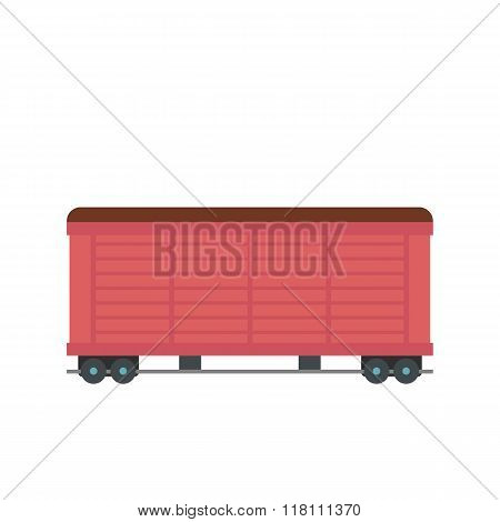 Train cargo wagon flat