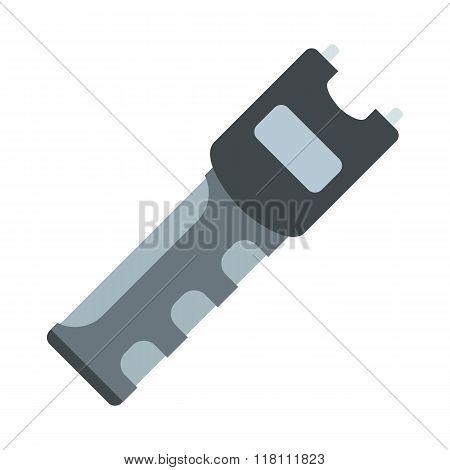 Taser self defense weapon flat icon