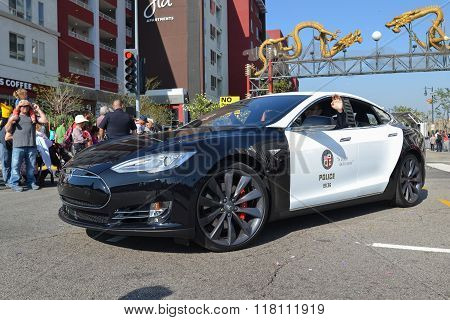 Electric Police Car Tesla
