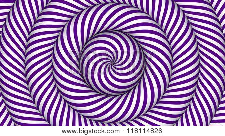 hypnotic background with purple and white concentric circles in motion