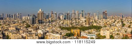 Tel Aviv aerial panorama