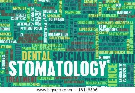 Stomatology or Stomatologist Medical Field Specialty As Art