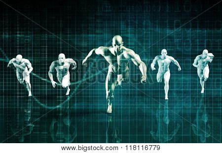 Sports Technology Abstract Concept Background as Art