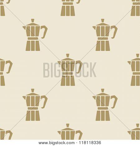 Italian coffee maker moca pattern tile background seamless