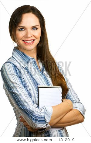 Portrait Of A Beautiful And Confident Business Woman Smiling
