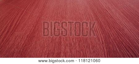 Red / Pink Background Texture Of Blurry Motion, Converging, Wood Grain / Lines.