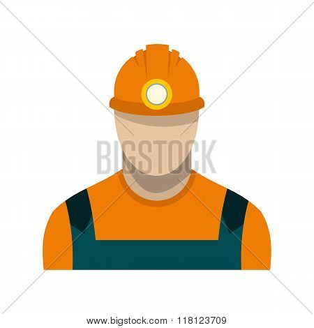 Coal miner flat icon