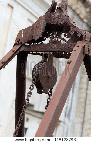 Pulley In Cemetery,detail