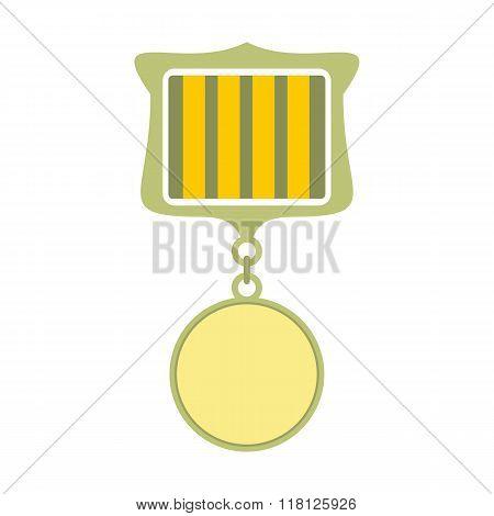 Medal award military flat icon