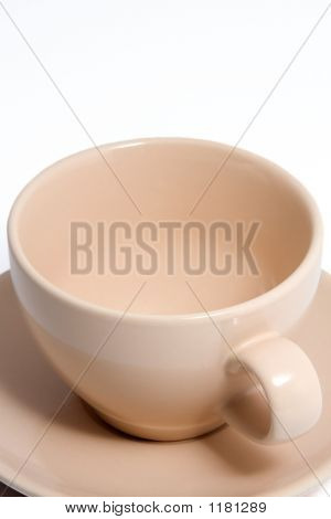 Peach Colored Coffee Cup