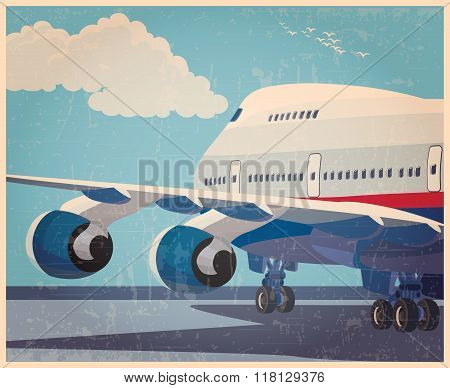 Big Civil Aircraft Old Poster