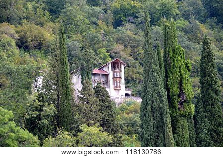 View Of The House In The Mountains. Gagra, Abkhazia