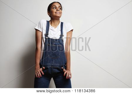 Woman Stretch Overalls